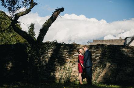 Brautpaar im Schloss Liebieg an der Mosel